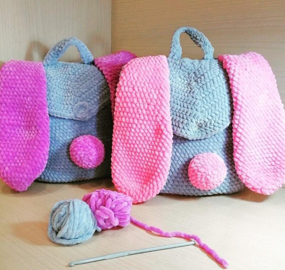 Вязание детских рюкзаков на заказ оказываем услуги